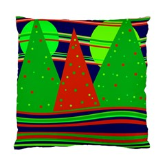 Magical Xmas Night Standard Cushion Case (one Side) by Valentinaart