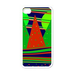 Magical Xmas Night Apple Iphone 4 Case (white) by Valentinaart