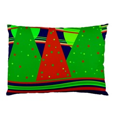 Magical Xmas Night Pillow Case (two Sides) by Valentinaart