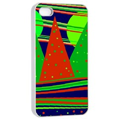 Magical Xmas Night Apple Iphone 4/4s Seamless Case (white)
