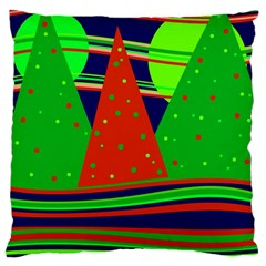 Magical Xmas Night Large Cushion Case (one Side) by Valentinaart