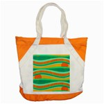Green and orange decorative design Accent Tote Bag Front