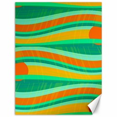 Green And Orange Decorative Design Canvas 12  X 16   by Valentinaart
