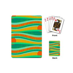 Green And Orange Decorative Design Playing Cards (mini)  by Valentinaart