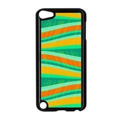 Green And Orange Decorative Design Apple Ipod Touch 5 Case (black) by Valentinaart
