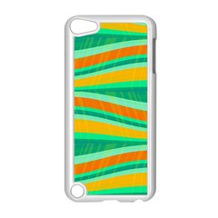 Green And Orange Decorative Design Apple Ipod Touch 5 Case (white) by Valentinaart