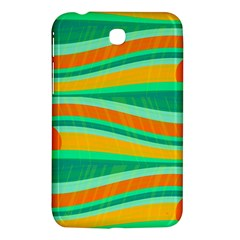 Green And Orange Decorative Design Samsung Galaxy Tab 3 (7 ) P3200 Hardshell Case  by Valentinaart