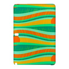 Green And Orange Decorative Design Samsung Galaxy Tab Pro 10 1 Hardshell Case by Valentinaart