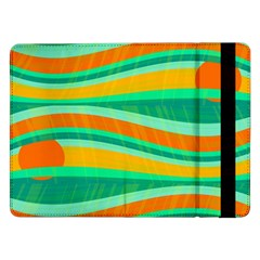 Green And Orange Decorative Design Samsung Galaxy Tab Pro 12 2  Flip Case by Valentinaart