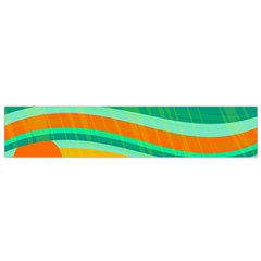 Green And Orange Decorative Design Flano Scarf (small) by Valentinaart