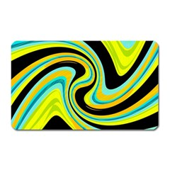 Blue And Yellow Magnet (rectangular) by Valentinaart
