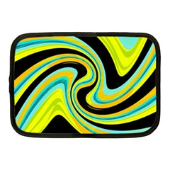 Blue And Yellow Netbook Case (medium)  by Valentinaart