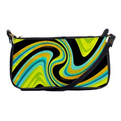 Blue And Yellow Shoulder Clutch Bags by Valentinaart