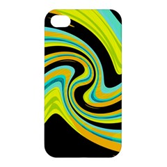 Blue And Yellow Apple Iphone 4/4s Hardshell Case by Valentinaart