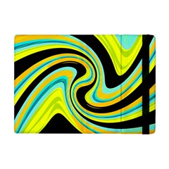 Blue And Yellow Apple Ipad Mini Flip Case by Valentinaart