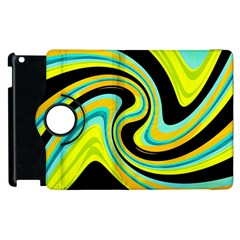 Blue And Yellow Apple Ipad 2 Flip 360 Case by Valentinaart