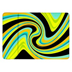 Blue And Yellow Samsung Galaxy Tab 8 9  P7300 Flip Case by Valentinaart