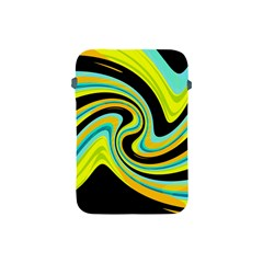 Blue And Yellow Apple Ipad Mini Protective Soft Cases by Valentinaart
