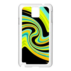 Blue And Yellow Samsung Galaxy Note 3 N9005 Case (white) by Valentinaart