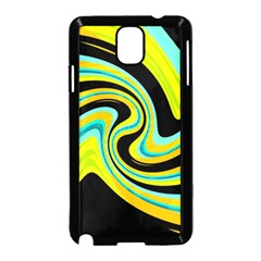 Blue And Yellow Samsung Galaxy Note 3 Neo Hardshell Case (black) by Valentinaart