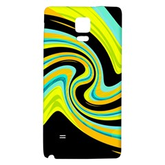 Blue And Yellow Galaxy Note 4 Back Case by Valentinaart