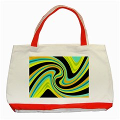 Blue And Yellow Classic Tote Bag (red) by Valentinaart