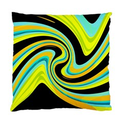 Blue And Yellow Standard Cushion Case (one Side) by Valentinaart