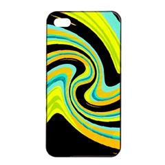 Blue And Yellow Apple Iphone 4/4s Seamless Case (black) by Valentinaart