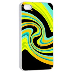Blue And Yellow Apple Iphone 4/4s Seamless Case (white)
