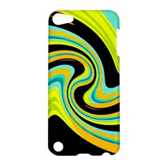 Blue And Yellow Apple Ipod Touch 5 Hardshell Case by Valentinaart