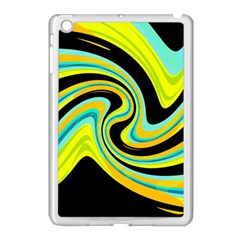 Blue And Yellow Apple Ipad Mini Case (white) by Valentinaart