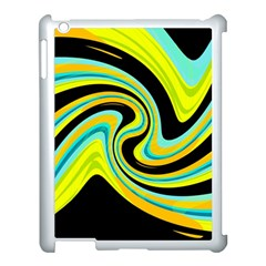 Blue And Yellow Apple Ipad 3/4 Case (white) by Valentinaart