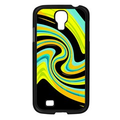Blue And Yellow Samsung Galaxy S4 I9500/ I9505 Case (black) by Valentinaart