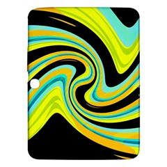 Blue And Yellow Samsung Galaxy Tab 3 (10 1 ) P5200 Hardshell Case  by Valentinaart
