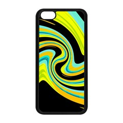 Blue And Yellow Apple Iphone 5c Seamless Case (black) by Valentinaart