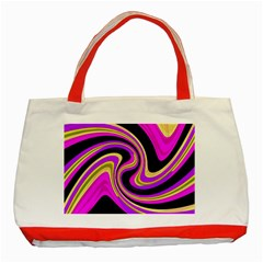 Pink And Yellow Classic Tote Bag (red) by Valentinaart