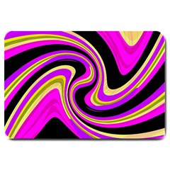 Pink And Yellow Large Doormat  by Valentinaart