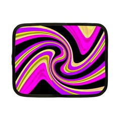 Pink And Yellow Netbook Case (small)  by Valentinaart