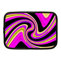 Pink And Yellow Netbook Case (medium)  by Valentinaart