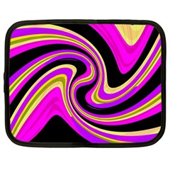 Pink And Yellow Netbook Case (large) by Valentinaart