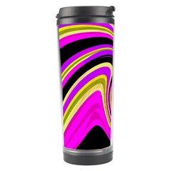 Pink And Yellow Travel Tumbler by Valentinaart