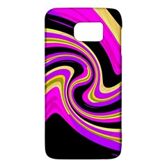 Pink And Yellow Galaxy S6 by Valentinaart