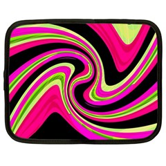 Magenta And Yellow Netbook Case (xl)  by Valentinaart