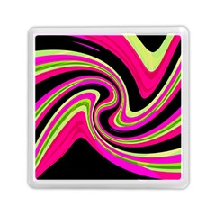Magenta And Yellow Memory Card Reader (square)  by Valentinaart