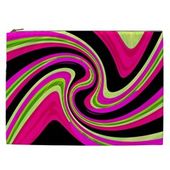 Magenta And Yellow Cosmetic Bag (xxl)  by Valentinaart