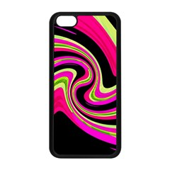 Magenta And Yellow Apple Iphone 5c Seamless Case (black) by Valentinaart
