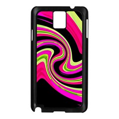 Magenta And Yellow Samsung Galaxy Note 3 N9005 Case (black) by Valentinaart