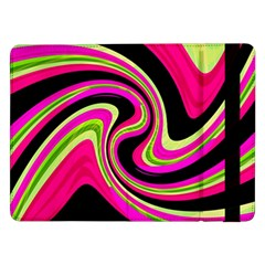 Magenta And Yellow Samsung Galaxy Tab Pro 12 2  Flip Case