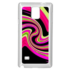 Magenta And Yellow Samsung Galaxy Note 4 Case (white)
