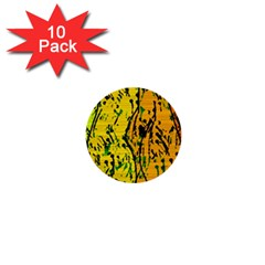 Gentle Yellow Abstract Art 1  Mini Buttons (10 Pack)  by Valentinaart